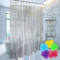 ForPeak Shower Curtain with 12 Rustproof Metal Hooks and 1 B