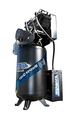 EMAX Silent Air 5-HP 80-Gallon Two-Stage Air Compressor w/ A