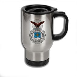 Stainless Steel Coffee Mug with U.S. Air Force Security Forc