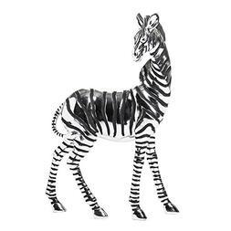 Moe's Home Collection Standing Zebra Scuplture, Silver, Set