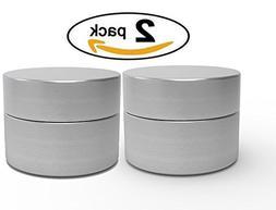 Herb Stash Jar | 2 Solid Aluminum Airtight Smell Proof Conta