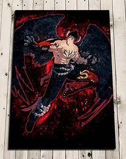 TEKKEN - DEVIL JIN Watercolour Art Print Poster Wall Decor -