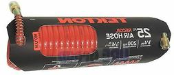 TEKTON 25-Foot by 1/4-Inch Recoil Coiled Air Compressor Hose