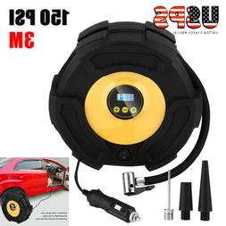 Tire Inflator Car Air Pump Compressor Electric Portable Auto