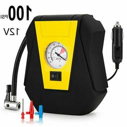 100 PSI Tire Inflator Car Air Pump Compressor Electric Porta