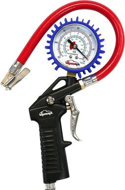 Tire Inflator Car Auto Pressure Gauge Manual Automotive Tool