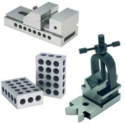 "TTC Toolmaker's Set Includes Screwless Vise, All-Angle ""V"" b"