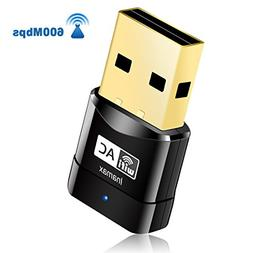USB WiFi Adapter, AC600 Mini Wireless Network WiFi Dongle fo