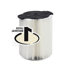 RIDGID VF4000 Filter 1 Layer Wet Dry 5-20 Gal & 6-9 Gal Husk
