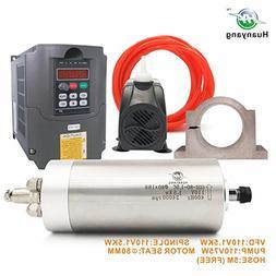 VFD CNC Spindle Motor Kits:110V 1.5KW VFD+110V 1.5KW 3 bea