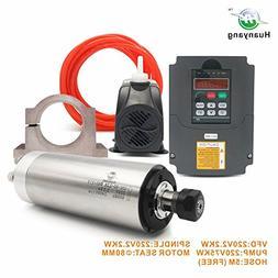 VFD CNC Spindle Motor Kits:220V 2.2KW CNC VFD+220V 2.2KW 4