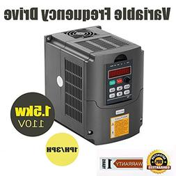 Beauty Star VFD 110V 1.5KW 3HP Inverter Variable Frequency D