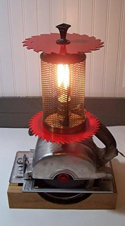Vintage Craftsman Circular Saw Electric Table Lamp. Repurpos