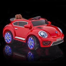 SPORTrax VW Beetle Style Kid's Ride On Car, Battery Powered,