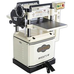 """Shop Fox W1742SW 3 hp 15"""" Planer with Spiral Cutter Head and"""