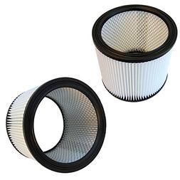 HQRP 2-Pack Washable H12 Cartridge Filter fits Shop-Vac QSP