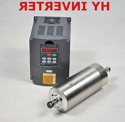 WATER-COOLED 110V 1.5KW CNC SPINDLE MOTOR AND MATCHING DRIVE