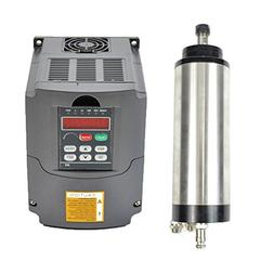 1.5KW 220V Water Cooled Er16 CNC Spindle Motor and 1.5kw 220