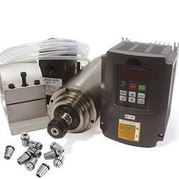2.2KW Water Cooled Spindle Motor ER20 110V/AC Kit & 2.2kw 11