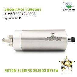 Huanyang Water Cooled VFD Spindle Milling Motor 110V 1.5KW 2