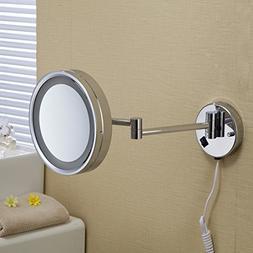 WAWZJ Bathroom Mirror Bathroom Folding Mirror Led Single Sid