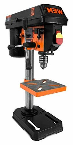 """WEN 8"""" 5-Speed Drill Press 1/2 In. Keyed Chuck Ideal Small P"""