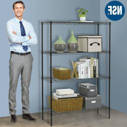 "Wire Shelving 36""x14""x54"" 4 Tier Layer Shelf Adjustable Stee"