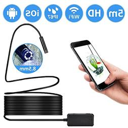 Wireless Endoscope, Nicam 2MP WiFi Borescope Waterproof IP67