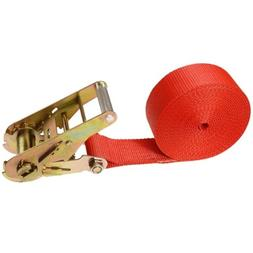 "2"" x 20' Heavy Duty Ratchet Strap Red"