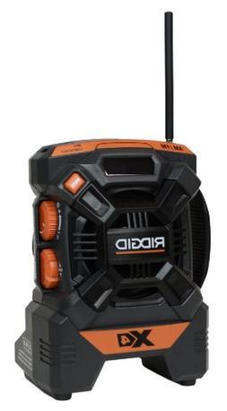 Ridgid ZRR84084 X4 18V Cordless Mini Jobsite AM/FM Radio